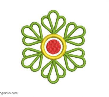 Design embroidered clover leaves