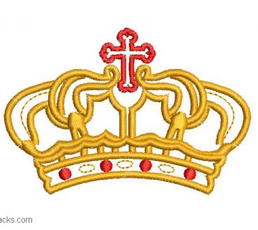 Design for kings crown embroidery