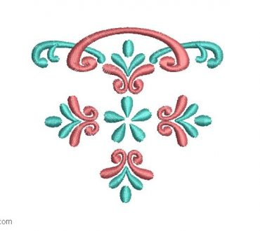 Design of flowers to embroider in pocket