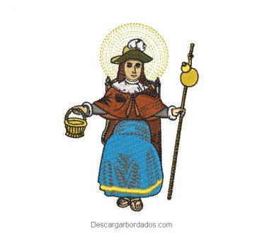 Diseño bordado santo niño de atocha novena