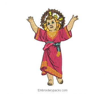 Divine child jesus embroidery design