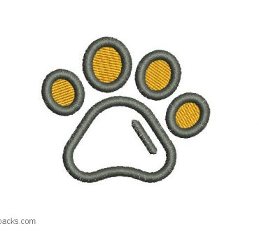 Dog footprint embroidered design
