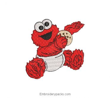 Elmo with ball embroidered design