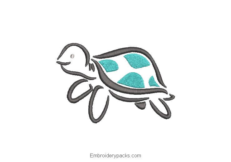 Embroidered Child Turtle Design