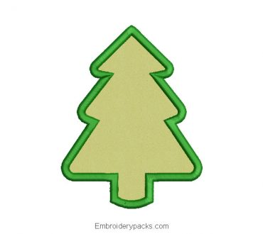 Embroidered Christmas tree design with application