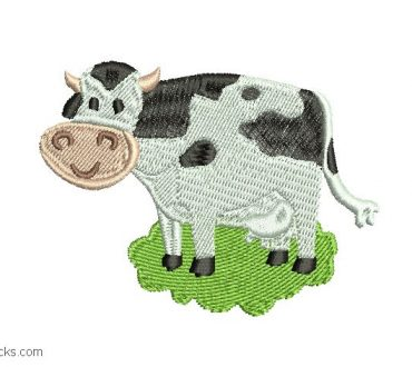 Embroidered Cow Design