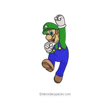 Embroidered Design Luigi from Super Mario Bros
