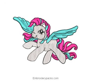 Embroidered Design My Little Pony Flying
