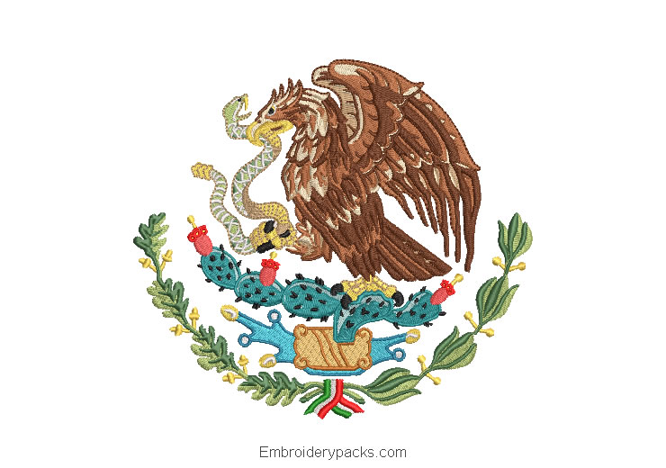 Embroidered Design National Shield of Mexico