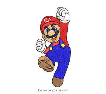 Embroidered Design Super Mario Bros