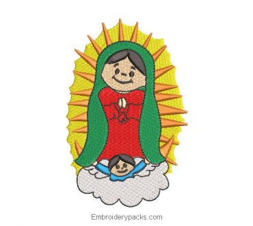Embroidered Design Virgin of Guadalupe for Children