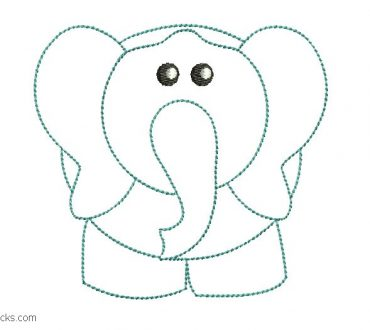 Embroidered Elephant Design