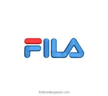 Embroidered Fila logo design