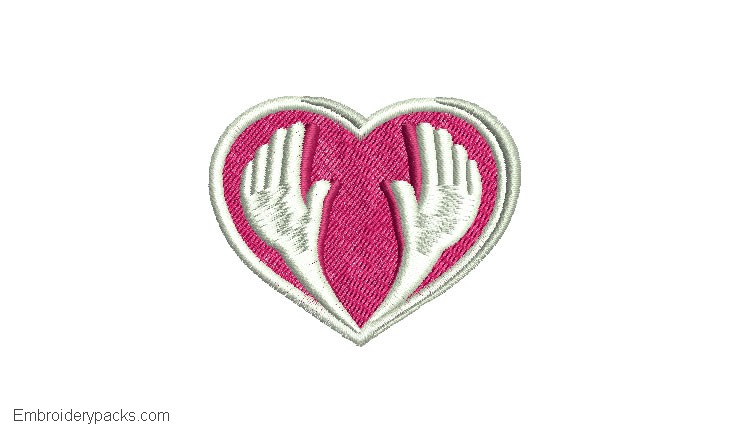Embroidered Heart Design 1