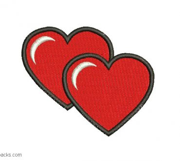 Embroidered Heart Design 2