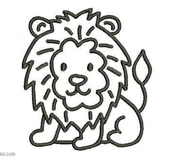 Embroidered Lion Design 1