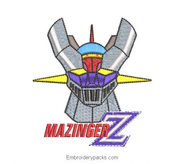 Embroidered Mazinger Z with Letter Design