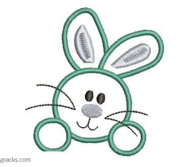 Download Embroidery of Free Rabbits