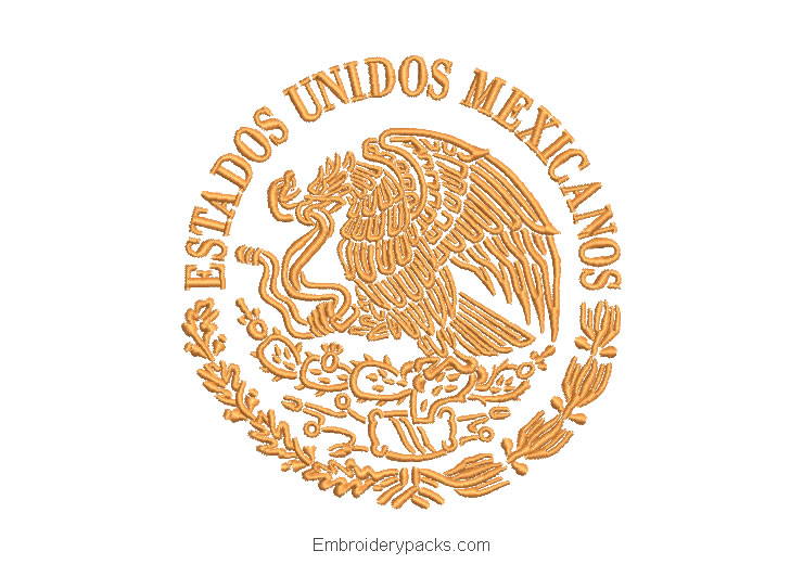 Embroidered Shield United Mexican States