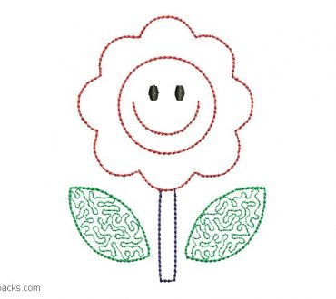 Embroidered Sunflower Design for Embroidery