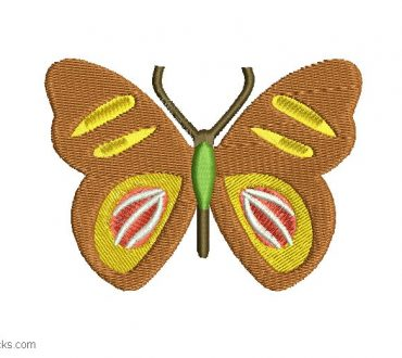 Embroidered butterfly design