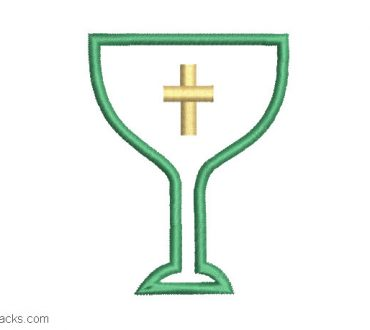 Embroidered church goblet design
