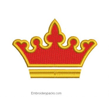 Embroidered crown designs with fill