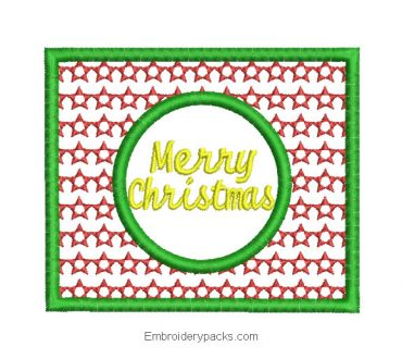 Embroidered design Merry Christmas picture