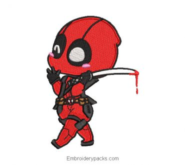 Embroidered design Superhero deadpool baby