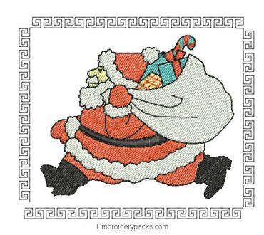 Embroidered design christmas box