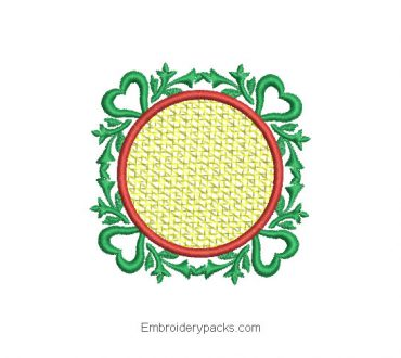 Embroidered design of Christmas ornament