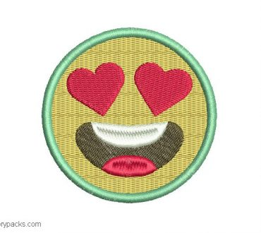 Embroidered design of Emoji
