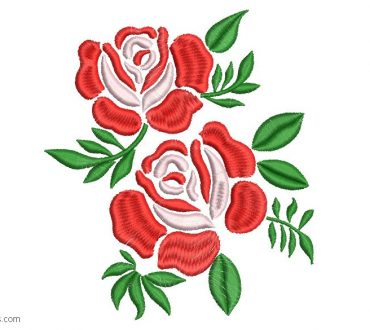 Embroidered design of Roses