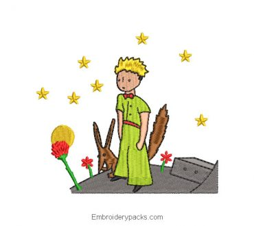 Embroidered design of The Little Prince