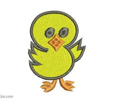 Embroidered design of childrens duck for embroidery