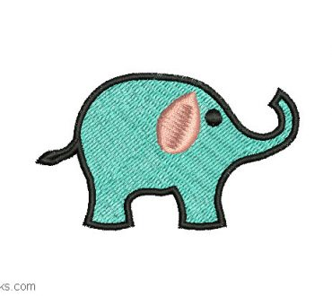 Embroidered design of elephant for