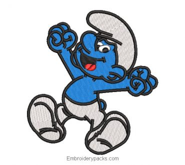 Embroidered design smurfs baby to embroider