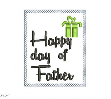 Embroidered designs of Happy Fathers Day Acceso directo 2