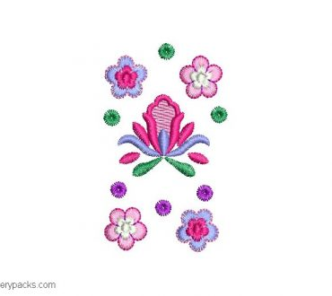 Embroidered roses design for embroidery