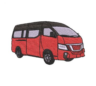 Embroidery Design Bus