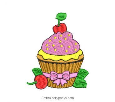 Embroidery Design Cupcake