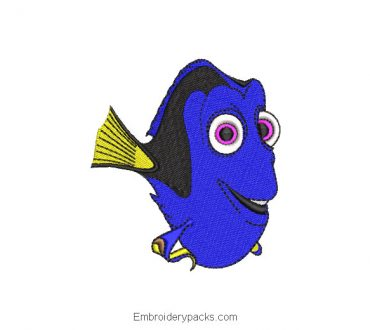 Embroidery Design Finding Dory