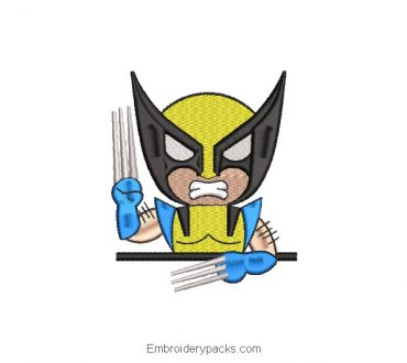 Embroidery Design X-men Wolverine Animated
