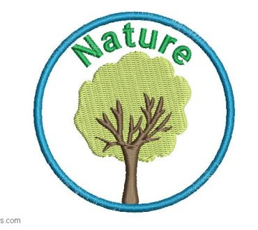 Embroidery Design of Nature Tree