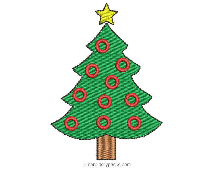 Embroidery christmas tree to embroider