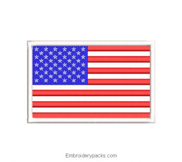 Embroidery design flag of united states of america USA