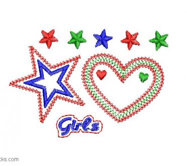 Embroidery design for Girls