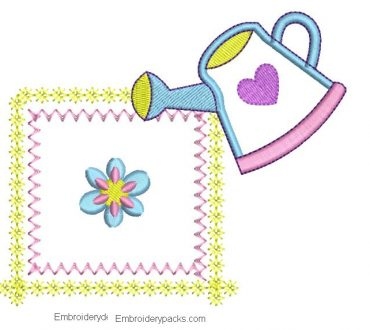 Embroidery design for babies with Application