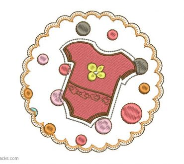 Embroidery design for children