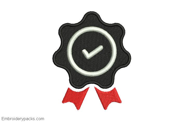 Embroidery design quality logo for machine